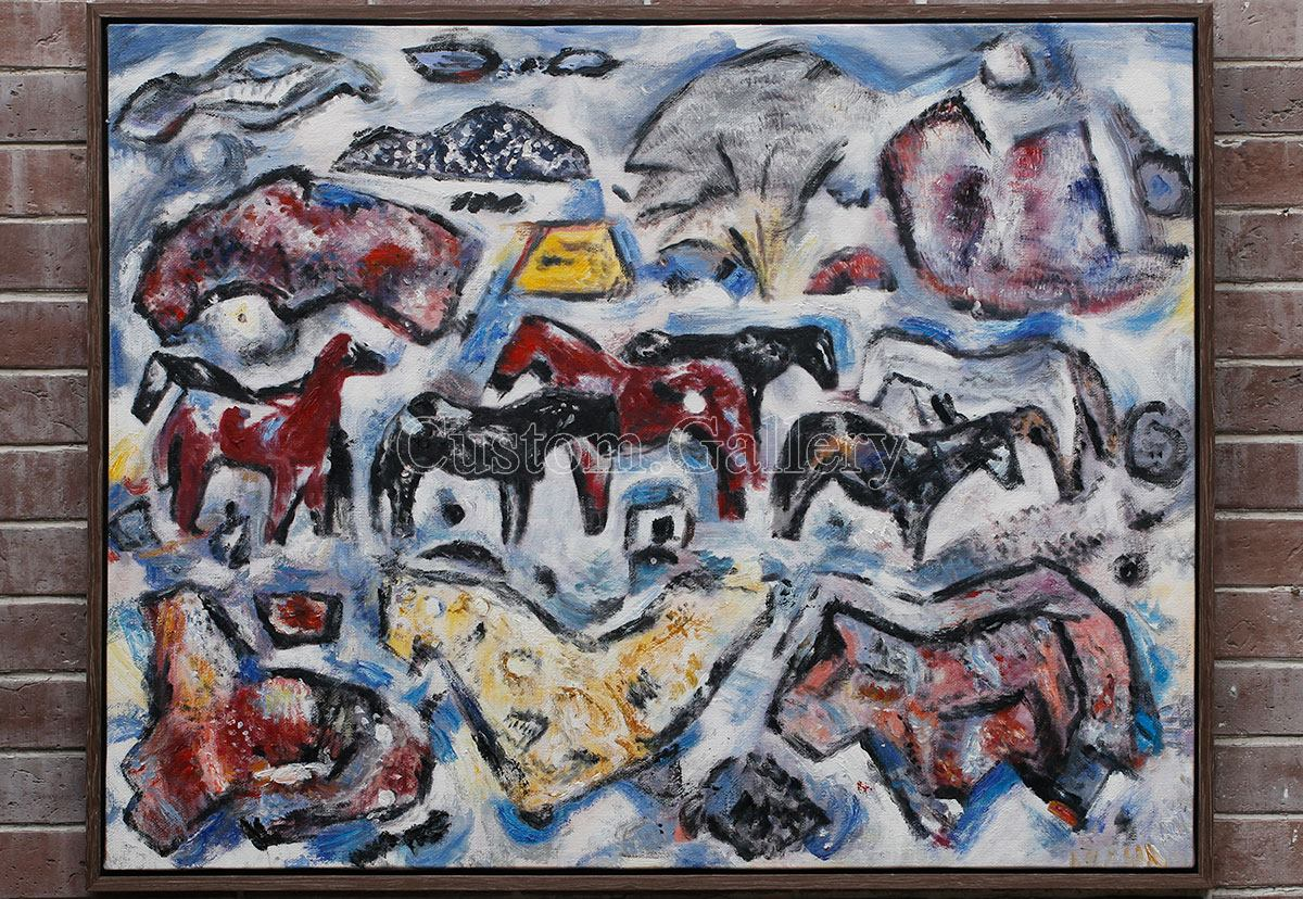 Modern Abstract Animal Painting