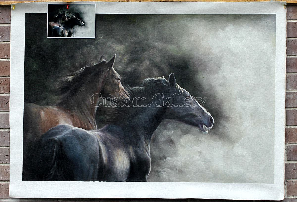 Custom Horse Portrait from Photo